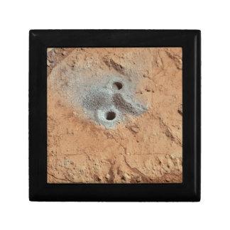 Een schedel op Mars? Vierkant Opbergdoosje Small