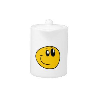Een scheefgetrokken Gele Gelukkige Smiley