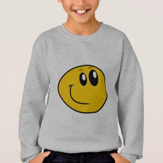 Een scheefgetrokken Gele Gelukkige Smiley Trui