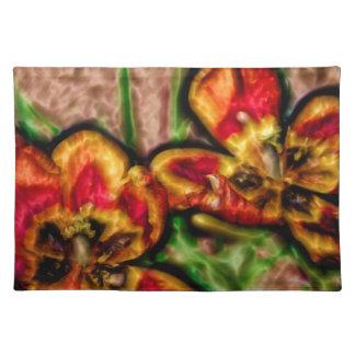 Een schets van Duo Tulipa Placemat