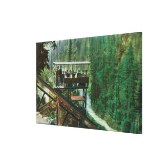 Een schilderachtig Spoorweg langs de Rivier van Sa Stretched Canvas Prints