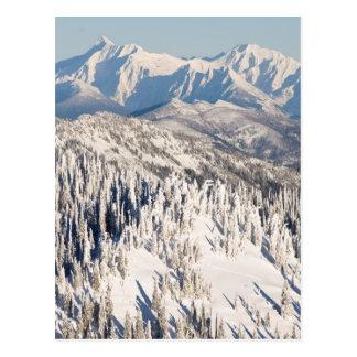 Een schilderachtig Uitzicht van SneeuwBergen en Briefkaart