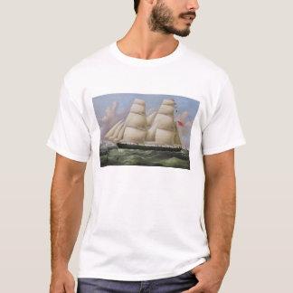 Een schoener Twee Masted van Dover (olie op T Shirt
