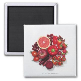Een selectie van rode vruchten & groenten magneet