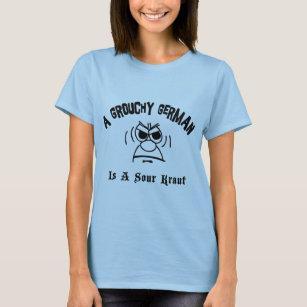 Een slechtgezinde Duitser is een Zure Kraut T Shirt