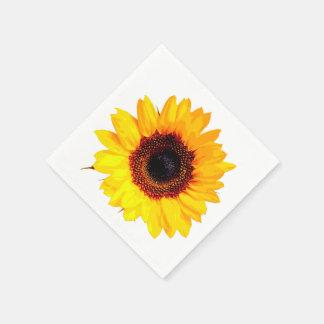 Een slechts Bloesem van de Zonnebloem + uw tekst & Wegwerp Servetten