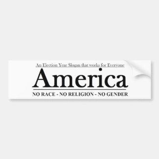Een slogan van het Jaar van de Verkiezing die voor Bumpersticker