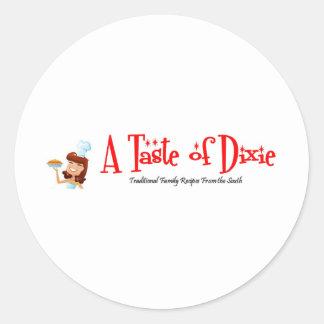 Een smaak van Dixie Ronde Stickers