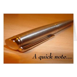 """Een """"snelle nota…"""" De kaart van de nota"""