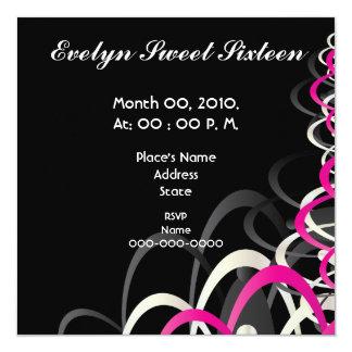 Een snoepje Zestien uitnodiging-Cust. van de Trots 13,3x13,3 Vierkante Uitnodiging Kaart