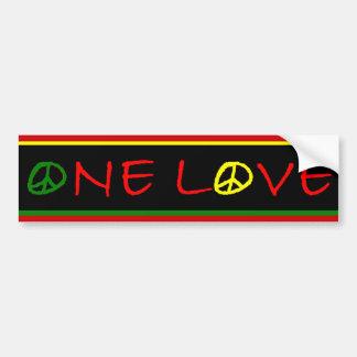 Één Sticker van de Bumper van de Liefde