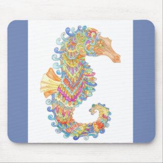 Een stootkussen van de seahorsemuis in marineblauw muismat