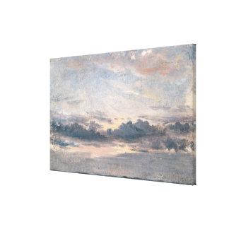 Een studie van de Wolk, Zonsondergang, c.1821 (oli Canvas Print