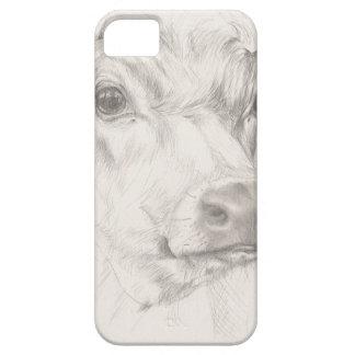 Een tekening van een jonge koe barely there iPhone 5 hoesje
