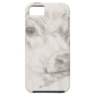 Een tekening van een jonge koe tough iPhone 5 hoesje