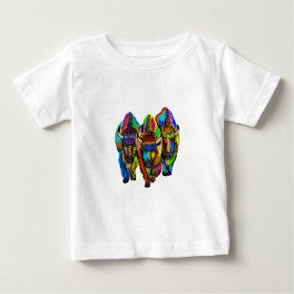 Een trio van de Bizon Baby T Shirts