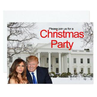 Een uitnodiging van Kerstmis van Donald en Melania