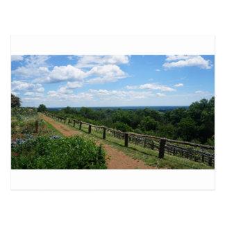 Een uitzicht van Monticello Briefkaart