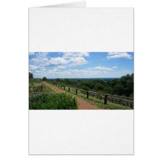 Een uitzicht van Monticello Briefkaarten 0