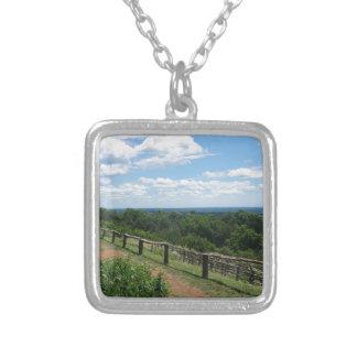 Een uitzicht van Monticello Zilver Vergulden Ketting