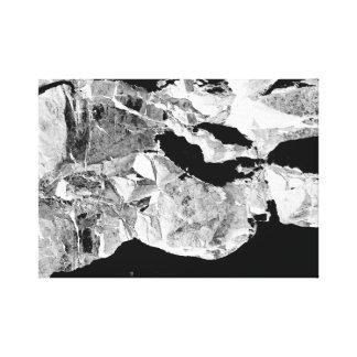 Een uitzicht van Ruimte. Abstract Art. Canvas Print
