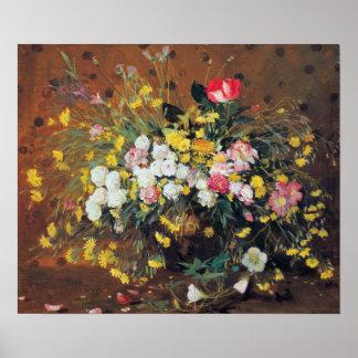 Een vaas van het Poster van Bloemen