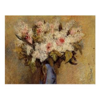 Een vaas van Renoir van Seringen en Rozen Briefkaart