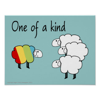 Één van een Vriendelijk Poster Sheepy