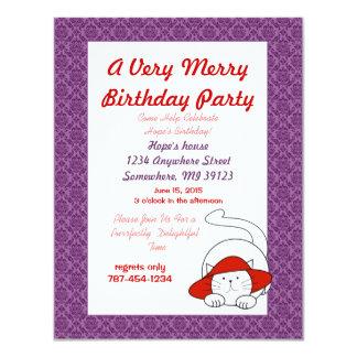 Een verrukkelijke Partij van de Verjaardag van de 10,8x13,9 Uitnodiging Kaart