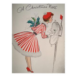 Een Vintage Kerstmis Retro Briefkaart