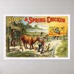 Een vintage Poster van het Piepkuiken