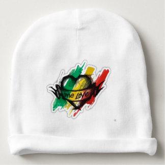 één vlag van reggaegraffiti van liefderasta baby mutsje