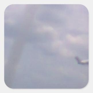 Een vliegtuig vierkant stickers