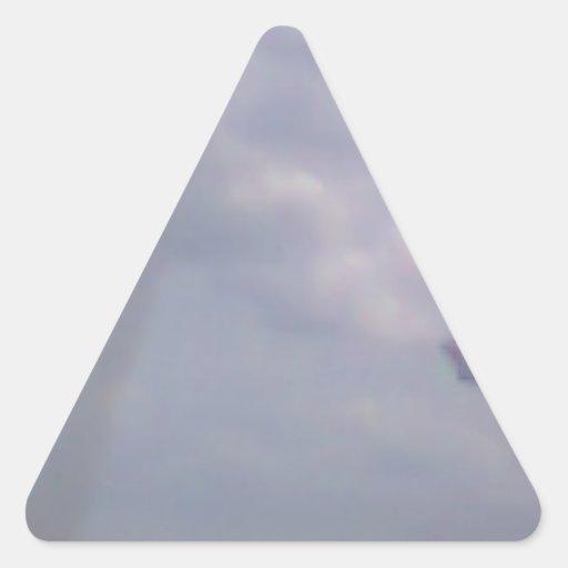 Een vliegtuig driehoekvormige stickers