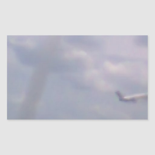 Een vliegtuig rechthoekige sticker