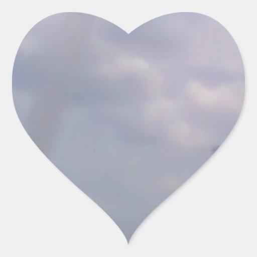 Een vliegtuig hart sticker