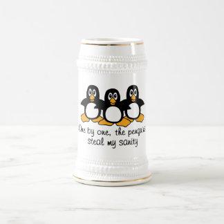 Één voor één stelen de Pinguïnen Mijn Geestelijke Bierpul