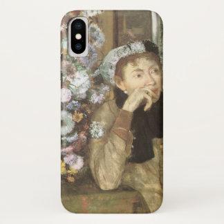 Een vrouw met Chrysanten door Edgar Degas iPhone X Hoesje