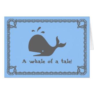 Een walvis van een verhaal! kaart
