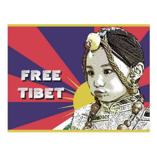 EEN WEINIG Tibetan meisjesSAVE TIBET~! VRIJ TIBET! Briefkaart