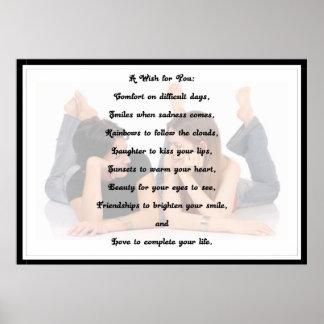 Een wens voor u Poster (Vrouwen)