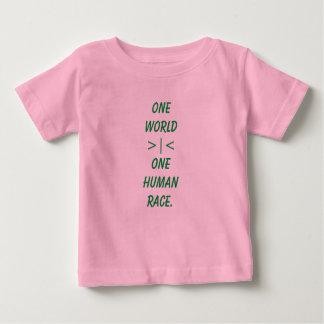 Één Wereld, Één overhemd van het kind van het Baby T Shirts
