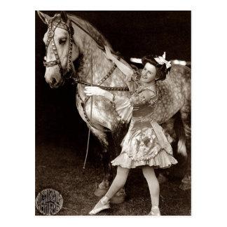 Een wijnoogst van het Meisje en van het Paard van Briefkaart