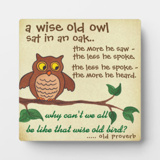 Een wijs Oud Gezegde - Plaque Fotoplaat