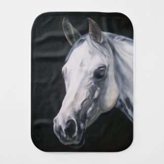 Een wit Paard Baby Monddoekjes