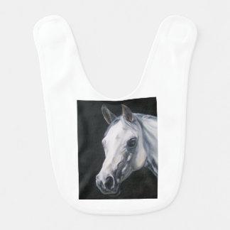 Een wit Paard Baby Slabbetje