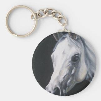 Een wit Paard Sleutelhanger