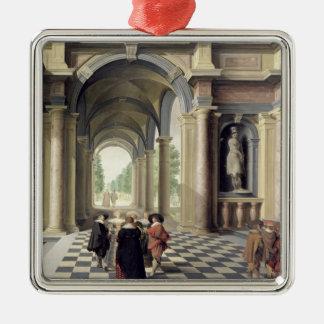 Een zaal van de Renaissance Zilverkleurig Vierkant Ornament
