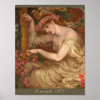Een zee-werktijd door Dante Gabriel Rossetti Poster