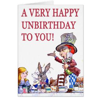 Een zeer Gelukkige Unbirthday aan u Wenskaart